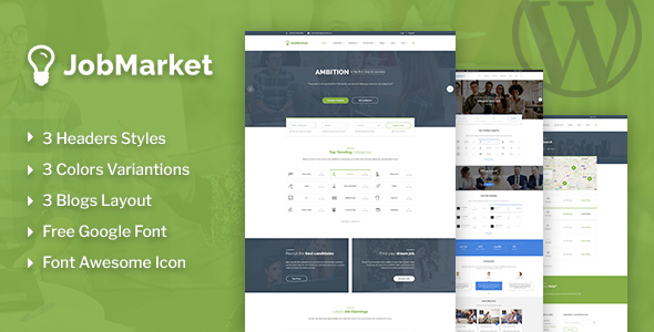 JobMarket - Job Multipurpose WordPress Theme