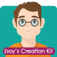 Boy Mascot Creation Kit - GraphicRiver Item for Sale