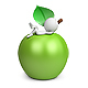 3D Small People - Lying on an Apple - GraphicRiver Item for Sale
