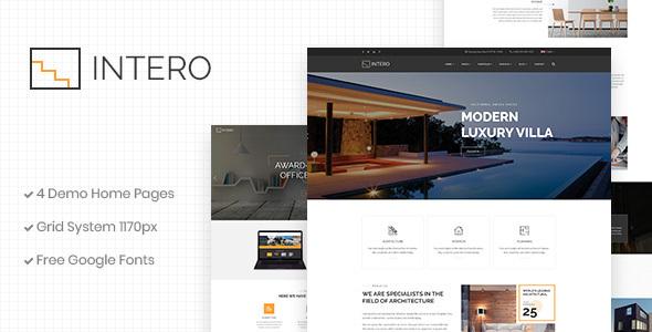 Intero | Architecture and Interior Business PSD Template