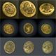 low poly coins 3 kinds - 3DOcean Item for Sale
