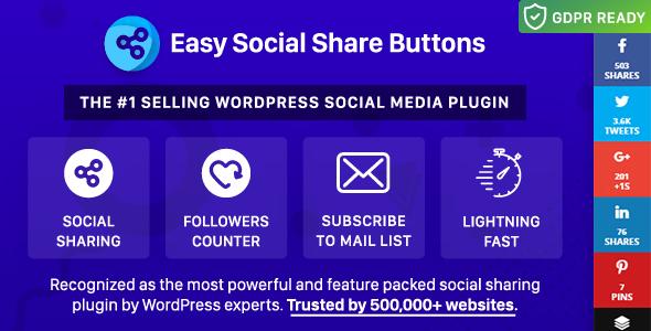 Łatwe przyciski akcji społecznościowych dla WordPress