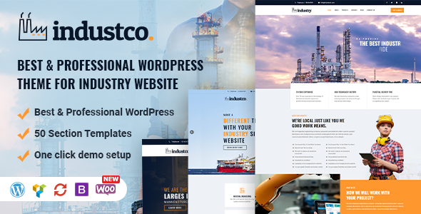 IndustCO | Industry & Factory WordPress Theme