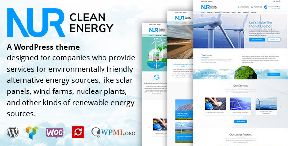 Nur - Alternative & Renewable Energy WordPress Theme
