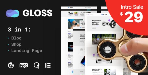 Gloss | Viral News Magazine WordPress Blog Theme Free Download