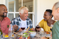 Mature friends enjoying lunch together - PhotoDune Item for Sale
