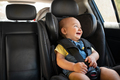 Toddler sitting in car during road trip - PhotoDune Item for Sale