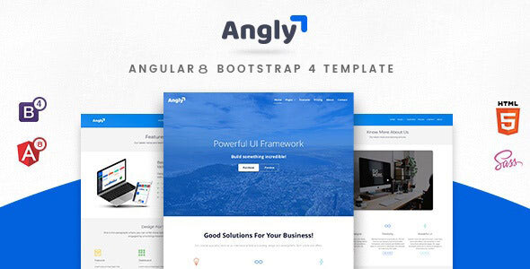 Angly - Angular 8 Bootstrap 4 Multipurpose  Template