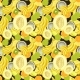 Hand Drawn Seamless Pattern with Bananas, Coconuts - GraphicRiver Item for Sale