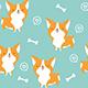 Cute Corgi Dog Seamless Pattern - GraphicRiver Item for Sale