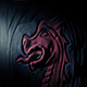 Torch Shines On Ancient Red Dragon Wall Carving - VideoHive Item for Sale