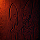 Ancient Alien Egyptian Wall Carving In Fire Light - VideoHive Item for Sale