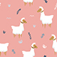 Cute Llama Pink Seamless Pattern - GraphicRiver Item for Sale