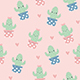 Cute Happy Cactus Pattern - GraphicRiver Item for Sale