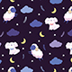 Night Dog and Sheep Seamless Pattern - GraphicRiver Item for Sale