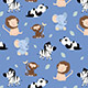 Cute animals seamless pattern - GraphicRiver Item for Sale