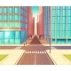 Modern City Empty Crossroads Cartoon Vector - GraphicRiver Item for Sale