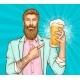 Beer Festival Pop Art Vector Banner Template - GraphicRiver Item for Sale