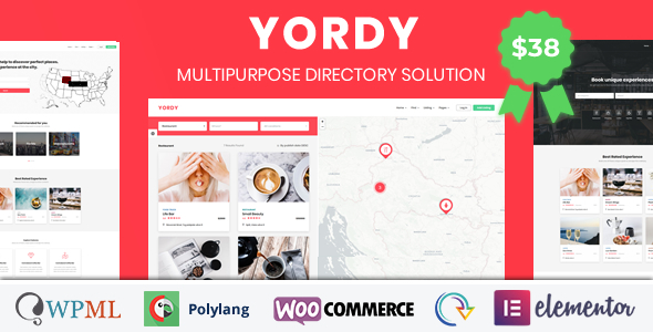 Yordy - Directory Listings WordPress Theme