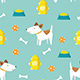 Cute Dog Seamless Pattern - GraphicRiver Item for Sale