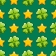 Seamless Pattern with Vector Clover and Stars - GraphicRiver Item for Sale