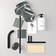 Bathroom Set 3D model - 3DOcean Item for Sale