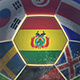 Bolivia Flag on a Soccer Ball - Football in Stadium - VideoHive Item for Sale