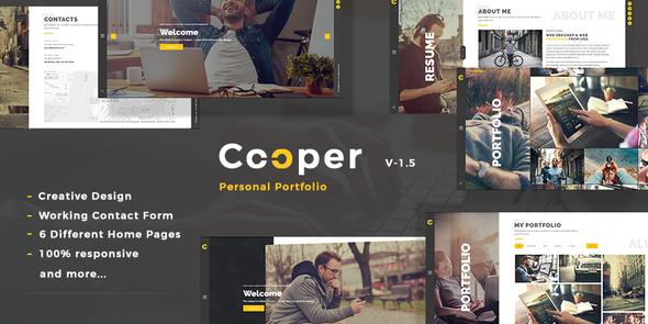 Cooper – Creative  Responsive Personal  Portfolio