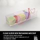 Clear Sleeve Box Packaging Mockup - GraphicRiver Item for Sale