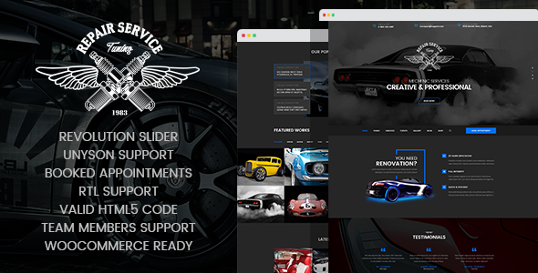 CarRepair - Auto Mechanic & Adjustment WordPress Theme