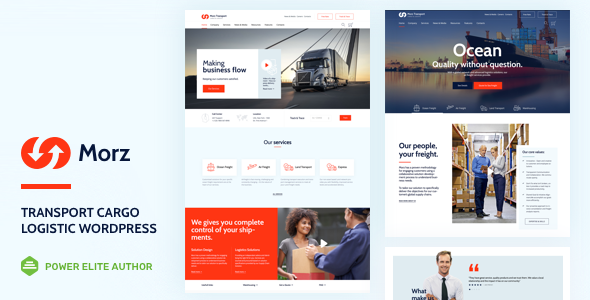 Morz - Transport Cargo Logistics WordPress
