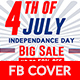 4th of July Sale Facebook Cover - GraphicRiver Item for Sale