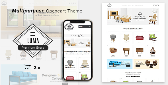 Luma Furniture Responsive Opencart 3 Stores