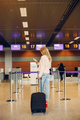 Beautiful girl standing in a airport - PhotoDune Item for Sale