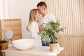 Beautiful couple spend time in a kitchen - PhotoDune Item for Sale
