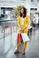 Cute girl with shopping bag in a city - PhotoDune Item for Sale