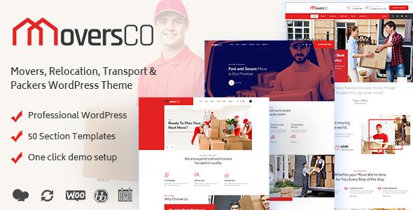 MoversCO - Movers & Packers WordPress Theme