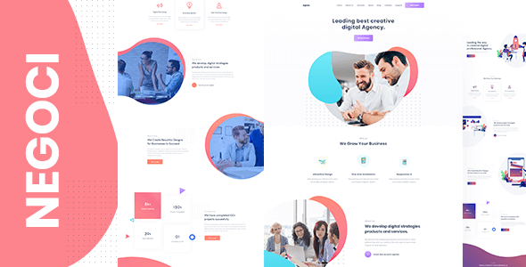 Negoci - Creative Agency and Digital Marketing WordPress Theme