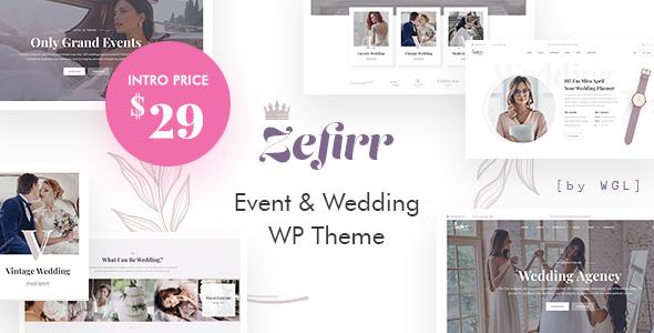 Zefirr - Event & Wedding Agency WP Theme