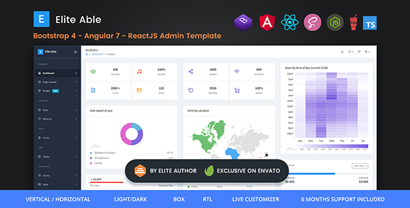 Elite Able - Bootstrap 4, Angular 7 & React Redux Admin Template