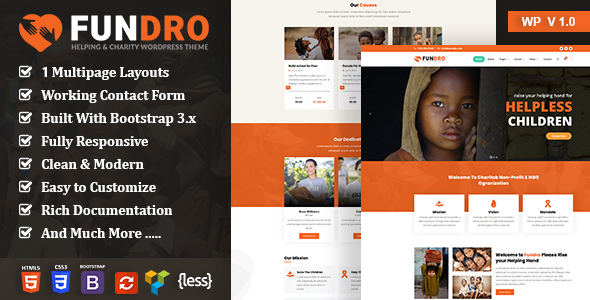 Download Fundro – Nonprofit Charity WordPress Theme nulled