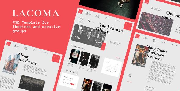 Lacoma — Theatre PSD Template