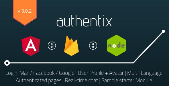 Authentix - Angular 7 & Firebase Starter + Node.js Admin Panel