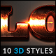 10 3D Styles vol. 22 - GraphicRiver Item for Sale
