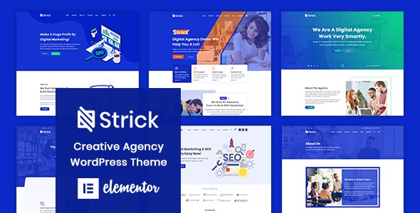 Strick - Creative Agency WordPress Theme