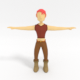 Low Poly Character - 3DOcean Item for Sale