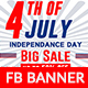 4th of July Facebook Ad Banner-6 Design-Image Included - GraphicRiver Item for Sale