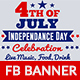4th of July Facebook Ad Banner-4 Design-Image Included - GraphicRiver Item for Sale
