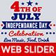 4th of July Web Slider-2 Design- Image Included - GraphicRiver Item for Sale