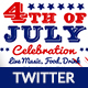 4th of July Twitter Header-2 Design- Image Included - GraphicRiver Item for Sale